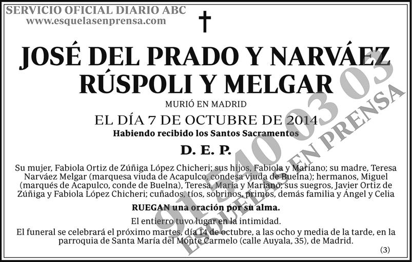 José del Prado y Narváez Rúspoli y Melgar
